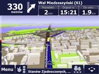 Panorama Warszawy z widocznymi budynkami 3D i ich numeracją.