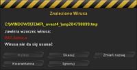 mks_vir w trakcie pracy - identyfikacja wirusa BAT.Autox.a