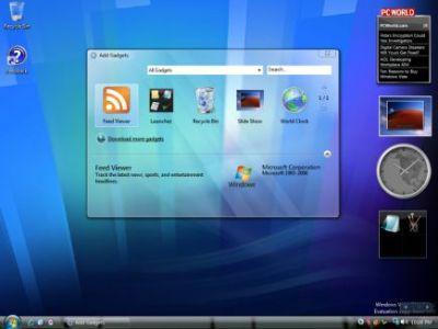 Windows Vista - Gadżety