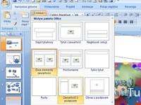 Gotowe schematy pomagają zaprojektować układ bieżącego slajdu.