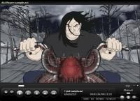 AllPlayer - na zrzucie kadr z serialu Metalocalypse