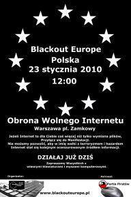 "Plakat manifestacji ""Obrona Wolnego Internetu"""