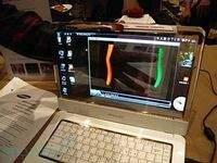 Prototypowy 14-calowy notebook Samsunga z przezroczystym ekranem OLED