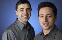 Larry Page i Siergiej Brin, założyciele Google. Larry Page pełni rolę prezesa ds. produktów, natomiast Siergiej Brin prezesa ds. technologii.