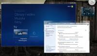 Windows 7 to system szybki i zarazem dobrze wyposażony. Na ilustracji widać Media Center i nowe Centrum akcji.