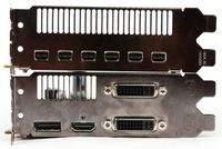 """Radeon HD 5870 Eyefinity6 Edition (na górze) i """"zwykły"""" HD 5870 (bottom)"""