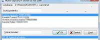 Okno wyszukiwania podatników i formularzy do importu.