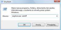 """Uruchomienie IE8 w trybie """"No Add-ons mode"""""""