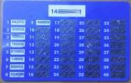Lista haseł jednorazowych może być udostępniona klientom banku w formie karty-zdrapki.