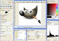 Interfejs GIMP-a bazuje na pływających oknach. Nie każdy użytkownik jest się w stanie do tego przyzwyczaić