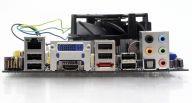 Bogaty zestaw złączy to jedna z zalet miniaturowej płyty dla procesorów Intela z podstawką LGA1156.