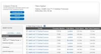 Aby znaleźć informację na stronie Intela, trzeba skorzystać z filtrowania