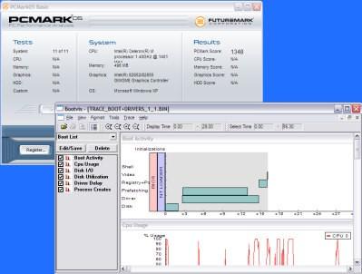 Maszyna testowa w PCMarku05 i BootVisie