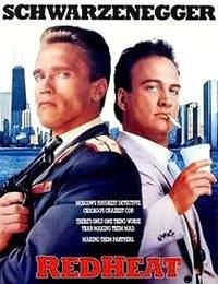 """Jako aktor, Schwarzenegger, grał m.in. rosyjskiego policjanta Ivana Danko wysłanego ze specjalną misją do USA w thrillerze """"Red Heat"""" z 1988 r."""