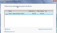 Windows 7 - wybór dysku do instalacji systemu