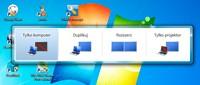 Naciśnij [Windows P], aby aktywować żądany tryb wyświetlania, gdy podłączasz do komputera projektor lub dodatkowy monitor.