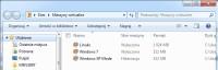Okno Virtual PC z zapisanymi w nim wirtualnymi systemami wygląda, jak typowe okno Eksploratora Windows