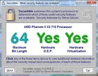 Weryfikacja sprzętowej obsługi wirtualizacji w procesorach za pomocą SecurAble