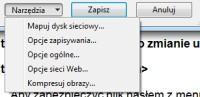 Inne hasła do odczytu i edycji można zdefiniować w opcjach zapisu