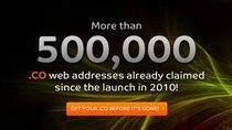 Od lipca, w domenie .co zarejestrowano już prawie 600 tys. adresów.