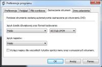 DVDShrink – wybór domyślnych wersji językowych oraz napisów do ripowania