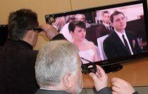 Wystawione na konferencji telewizory 3D cieszyły się dużą popularnością