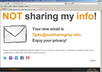 """Serwis """"Not Sharing My Info!"""" pozwala ukryć prawdziwy adres e-mail."""