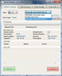 Disk Checker – do dokładnego sprawdzenia powierzchni potrzebne są uprawnienia administratora