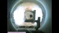 Pocisk opuszcza lufę rail guna