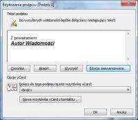 MS Outlook – tworzenie nowego podpisu