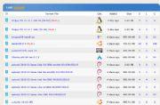 BitTorrent dla początkujących - lista dostępnych plików w serwisie LinuxTracker wraz z infromacjami o ich stanie