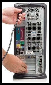 Czyszczenie zakurzonego PC - Ładunek elektroststyczny należy rozładować.