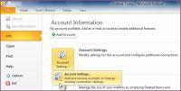 Kopia zapasowa Outlook - Ustawienia Konta