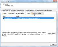 Kopia zapasowa Outlook - Otwórz lokację pliku