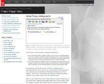 Panel ustawień odtwarzacza Flash to aplikacja sieciowa