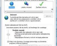 Modyfikacja domyślnych opcji związanych z bezpieczeństwem w Internet Explorerze