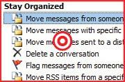 Użyj reguł wiadomości, aby automatycznie kierować przychodzącą pocztę do odpowiednich katalogów