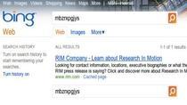 Dowód na kopiowanie wyników Google przez wyszukiwarkę Bing.