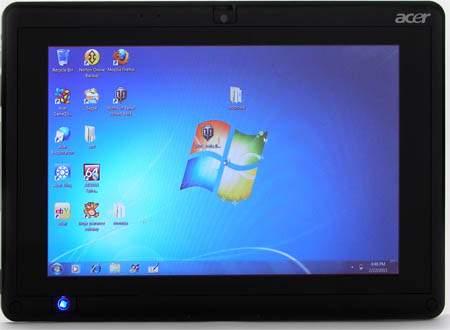 Acer Iconia Tab W501 -10,1 calowy ekran dotykowy pracuje z dużą jak na te urządzenia rozdzielczością 1280x800 pikseli.