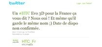 Francuski oddział HTC zdradził plany firmy za pośrednictwem Twittera