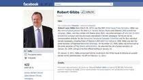 Profil Roberta Gibbsa na Facebooku