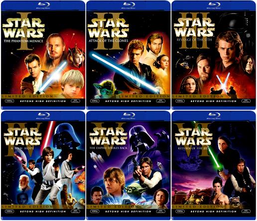 Gwiezdne Wojny Blu-ray