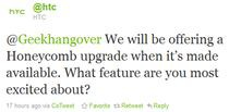 Wiadomość od HTC, która pojawiła się na Twitterze