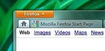 """Firefox 5: przycisk """"Home"""" robi miejsce karcie domowej."""