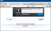 Firefox 5 polubi się z Facebookiem i Twitterem. Na obrazku: udostępnianie z paska adresu.