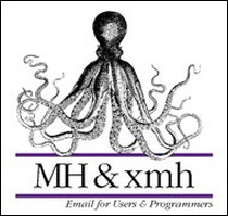 """Okładka """"MH & xmh: Email for Users & Programmers"""" Jerry'ego Peeka - pierwszej książki, która oficjalnie ukazała się w sieci."""