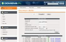 domena.pl zapewnia rozbudowane zarządzanie uprawnieniami użytkowników bazy danych.