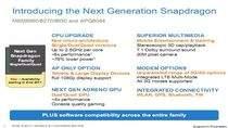 Fragment prezentacji przedstawiający możliwości nowych układów Snapdragon (źródło: mobiletechworld.com)