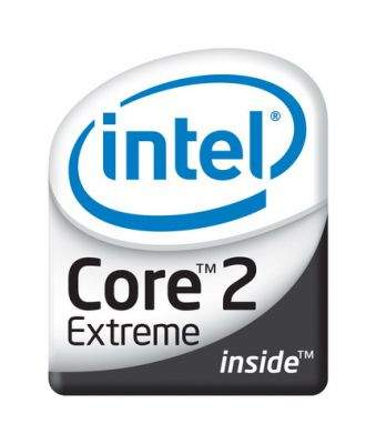 Logo procesorów Intel Core 2 Extreme