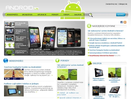 AndroidLife.pl - nowy serwis o systemie Android